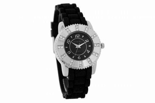 Swarowski Damen Armbanduhr Silikonarmband schwarz MIRAVAL 2-NO713-1 B-Ware