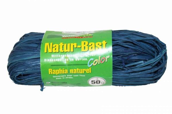 20 x Natur-Bast blau Bindebast witterungseständig 20x50 g Garten WINDHAGER