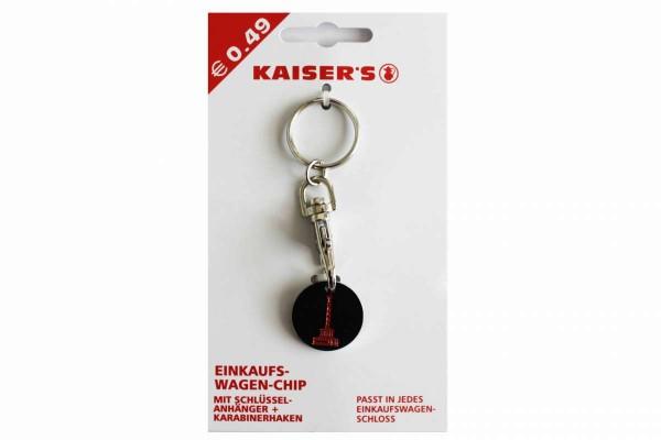 Einkaufswagenchip Berlin & Kaisers Logo Wagenchip Metall Schlüsselanhänger