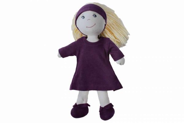 Puppe mit Kleid Stoffpuppe weich waschbar 30 cm verschiedene Farben Weichpuppe