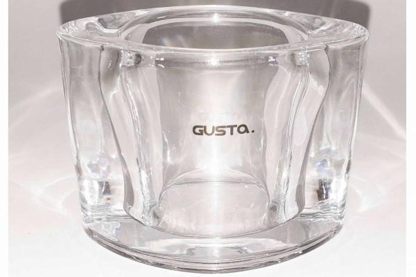 Teelichthalter klar oval Candle holder für 1 Teelicht 8x6 cm edel GUSTA 22673